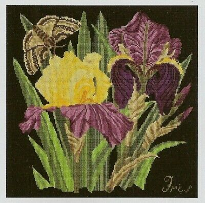 Iris Cushion Tapestry Needlepoint Colour Chart - Elizabeth Bradley