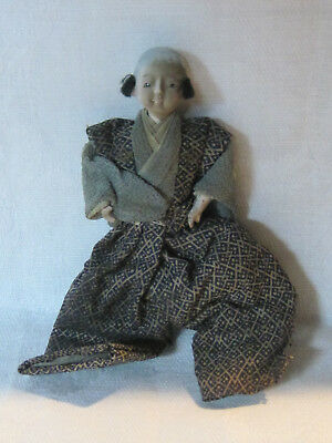 Vintage antique Japanese gofun Ningyo male doll