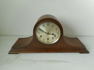 ANTIQUE JUNGHANS WURTTEMBERG NAPOLEON HAT MANTEL CLOCK WITH CHIMES - 3 Hole
