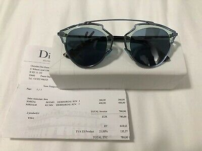 1012af8cb583 AUTHENTIC CHRISTIAN DIOR SO REAL SUNGLASSES SILVER With BOX CASE ...