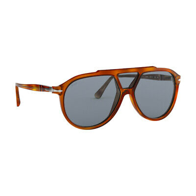 bcdf41c4b2 Persol Sunglasses PO3217S 96 56 Terra Di Siena Blue AntiReflective Lens 59mm