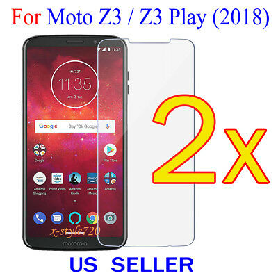 2x Clear Screen Protector Guard Cover Film For Motorola Moto Z3 Play / Z3 (2018)