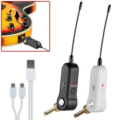 UHF Guitar Bass Wireless System Rechargeable Transmitter Receiver 5 Channel 1/4""