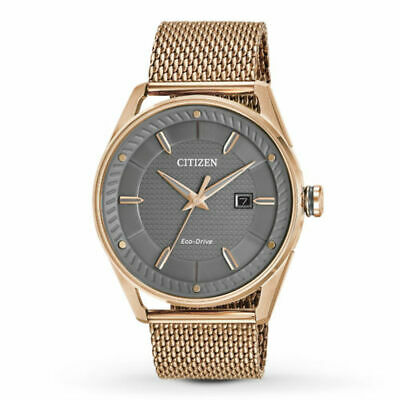 Citizen Mens Eco Drive CTO Rose Gold-Tone Stainless Steel Watch BM6983-51H