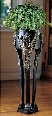 """French Neoclassical Griffin Sculpture Plant Holder 30"""""""