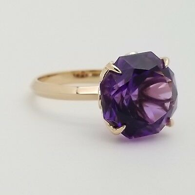 dcc4980d9 Tiffany & Co Sparklers 18k Rose Gold Flower 13mm Amethyst Ring Size 5.5