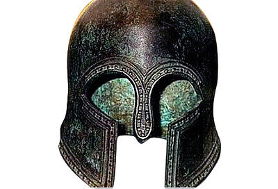 100% Bronze Ancient Greek helmet from Olympia Museum Replica Reproduction