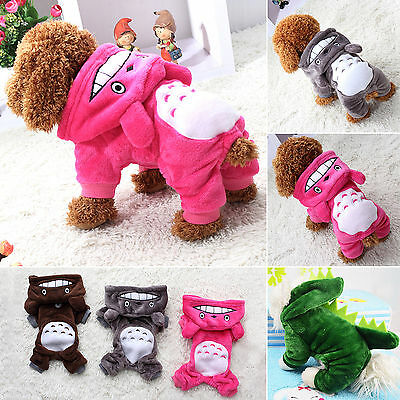 Pet Clothes Totoro Hoodie Costume Dog Jacket Coat Puppy Cat Cute Sweater Apparel