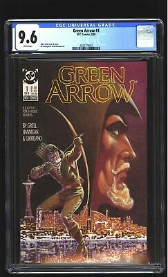 Green Arrow 1 CGC 9.6 NM+ Mike Grell cover DC 1988