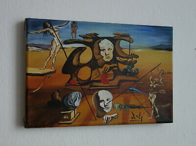 Very Fine Surreal painting, signed, Salvador Dali with COA and docs