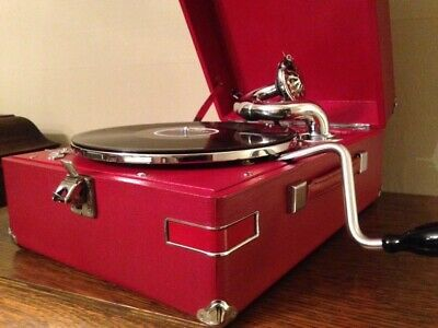 Gramophone HMV Red 102E. B12 / Soundbox 5B MINT CONDITION ( video YT )