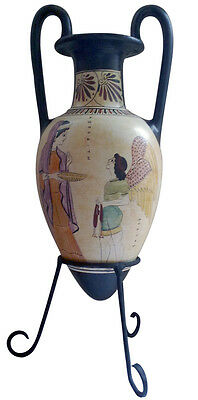 Aphrodite Eros and Bacchante Ancient Greek Amphora Vase Replica Reproduction