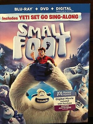 Small Foot(Blu-Ray+Dvd+Digital)W/slipcover New Factory Sealed