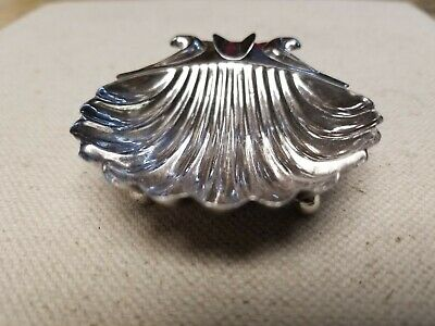 HECHO EN MEXICO Sterling Silver Seashell Scallop Clam Shell Footed Ashtray Dish