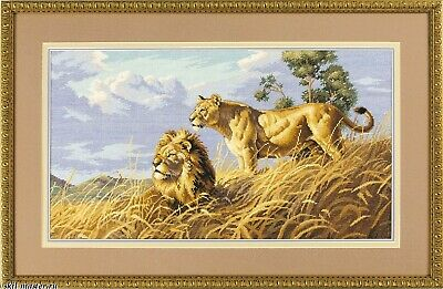 "DIMENSIONS GOLD COLLECTIONS ""AFRICAN LIONS"" CROSS STITCH KIT Kreuzstich-Stickpac"