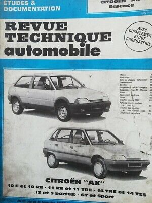 Revue technique CITROEN AX essence  RTA CIP 4783 10E 10RE 11 RE TRE 14TRS GT etc
