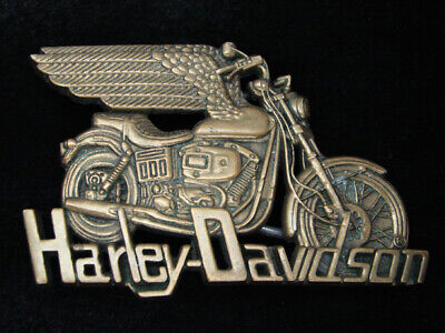Rc03168 Vintage 1983 **Harley-Davidson Motorcycles** Solid Brass Baron Buckle