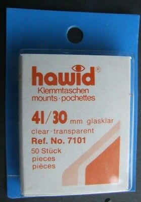 Hawid clear mounts 41 x 30mm pack of 50  or buy 4 of any size and get 1 free