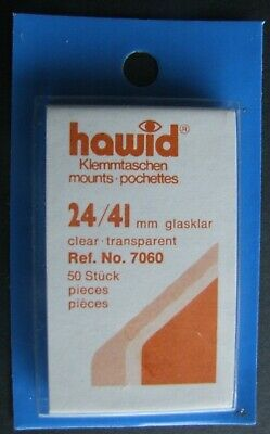 Hawid clear mounts 24 x 41mm pack of 50  or buy 4 of any size and get 1 free