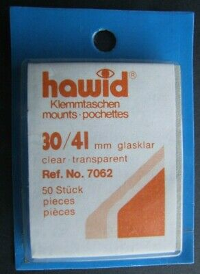 Hawid clear mounts 30 x 41mm pack of 50  or buy 4 of any size and get 1 free