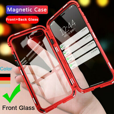 360 Magnetic Adsorption Double Sided Glass Phone Case Cover For iPhone XR XS Max