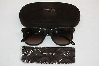 06564ab6596dd Tom Ford Leo TF336 05k Brown Wood Acetate Brown Gradient Lens Square  Sunglasses