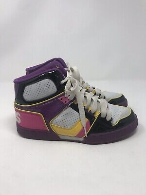 9f7b1262568093 OSIRIS NYC 83 SLM Skate Hi-Tops Shoes Black Pink Teal Youth Sz 5 Hip ...