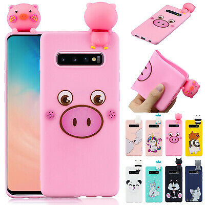 For Samsung Galaxy S10 S10 Plus S9 Case Cute 3D Cartoon Rubber Soft Phone Cover