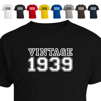 Vintage 1939 80th Birthday Gift T Shirt 018 Many Sizes and Colours