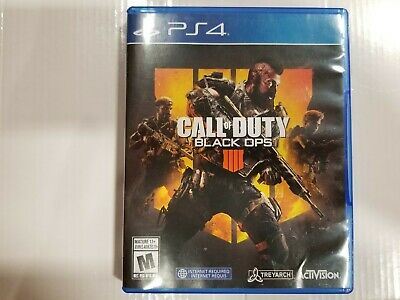 USED -Call of Duty Black Ops 4 IIII IV (Sony PlayStation 4 PS4)