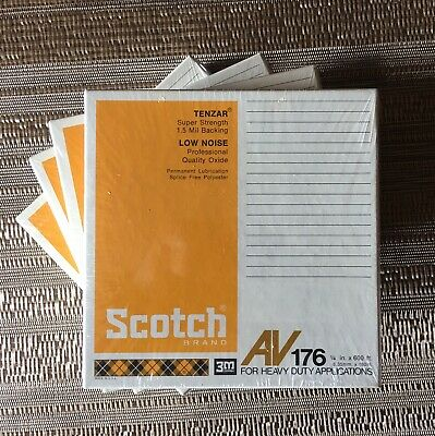 Lot of 4 Scotch 3M AV176 600 Ft. Reel To Reel Tapes  Sealed NOS - Free Shipping