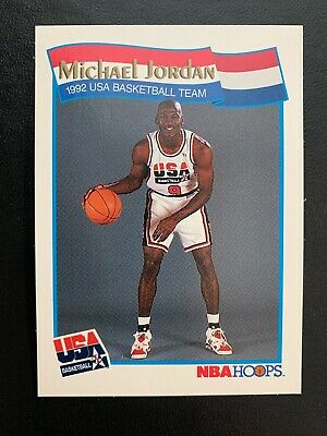 f0356bcccd4 1991-92 NBA Hoops Basketball Card #55 Michael Jordan Team USA (Olympics)