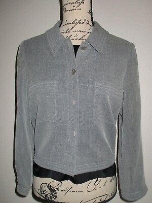 CHANEL Pewter Button Front Jacket-Size 40-US Small