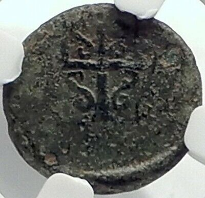 MYLASA in CARIA Authentic Ancient 210BC Greek Coin w HORSE TRIDENT NGC i77367