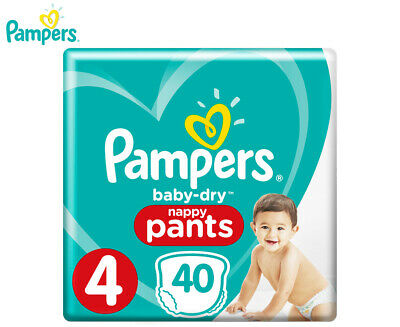 Pampers Baby-Dry Toddler Size 4 9-15kg Nappy Pants 40-Pack