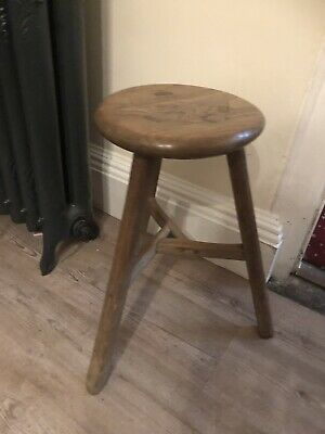 Elm Milking Stool #886 Furniture