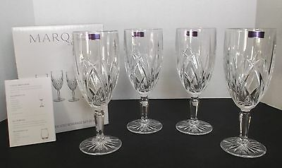 Set of 4 MARQUIS by WATERFORD Brookside Iced Beverage Glasses