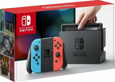 Nintendo Switch 32GB Console with Neon Blue and Neon Red Joy-Con | Brand New
