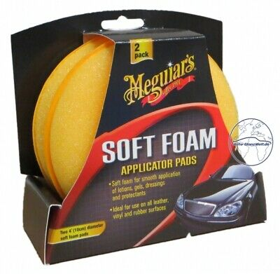 Meguiar`s Soft Foam Applicator Pads 2er Pack X3070 Auftragepads