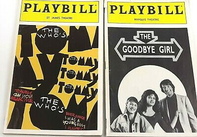 1d3d7e241 2 Broadway Theatre Playbills 1993 The Who s Tommy   The Goodbye Girl