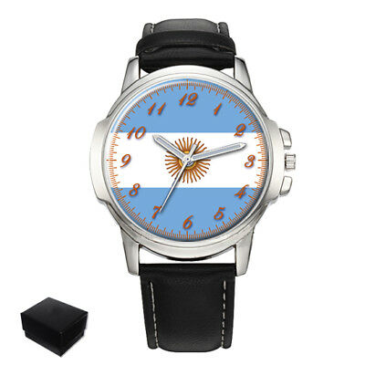 Argentina Argentinian Flag Eagle Gents Mens Wrist Watch  Gift Engraving