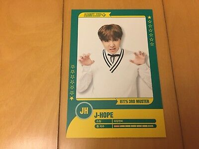 BTS J-hope #2 [ 3rd Muster ARMY.ZIP Official Player Card ] Photocard /NEW/+Gift