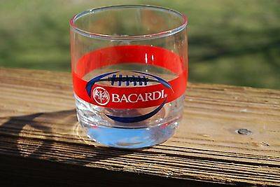 4 Bacardi Rum Tumblers with Football Logo