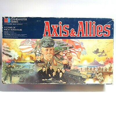 2X VTG AXIS & Allies Strategy Board Game 99% COMPLETE 1942 WW2 Gamemaster  4423