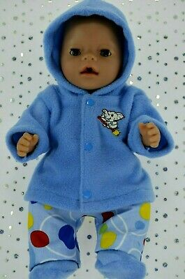 """Play n Wear Doll Clothes To Fit 17"""" Baby Born BLUE JACKET~PANTS~BOOTIES"""