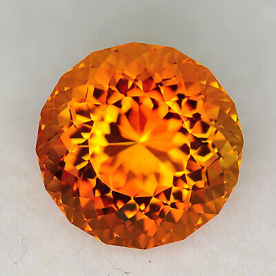 CUSTOM CUT - 5.30ct - ORANGE CITRINE - BRAZIL - WATCH THE VIDEO