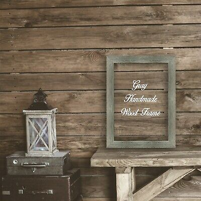 Gray Wood Photo Poster Canvas Art Picture Frame Rustic Distressed Barnwood