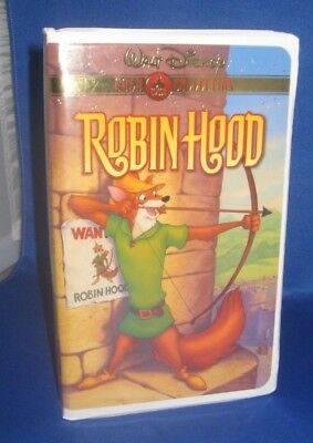 Walt Disney Gold Classic Collection Robin Hood Vhs Animated Movie (G) Used