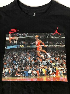 7557138dfc2839 Nike Air Jordan 1988 Slam Dunk Contest T-shirt NWT Men s XL JSW AJ1406 010
