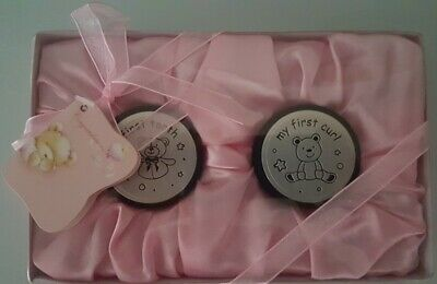Baby Girl -My First Tooth & Curl Trinket Boxes -Baptism, Christening Baby Shower